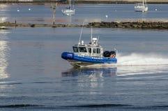 Περιπολικό σκάφος στον ποταμό Acushnet Στοκ Φωτογραφίες