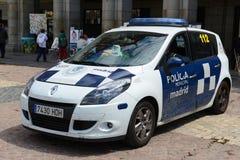 Περιπολικό της Αστυνομίας της Μαδρίτης στο δήμαρχο Plaza στη Μαδρίτη, Ισπανία Στοκ φωτογραφίες με δικαίωμα ελεύθερης χρήσης