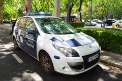 Περιπολικό της Αστυνομίας της Μαδρίτης στο δήμαρχο Plaza στη Μαδρίτη, Ισπανία Στοκ Εικόνες
