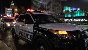 Περιπολικό της Αστυνομίας του Λας Βέγκας στη λουρίδα τή νύχτα - ΗΠΑ 2017 φιλμ μικρού μήκους