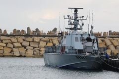 Περιπολικό σκάφος έξοχο Dvora MK ΙΙΙ ναυτικού του Ισραήλ στη μαρίνα Herzliya Στοκ εικόνα με δικαίωμα ελεύθερης χρήσης