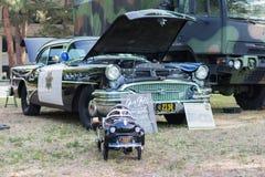 Περιπολικό της Αστυνομίας αιώνα Buick στην επίδειξη Στοκ Φωτογραφία