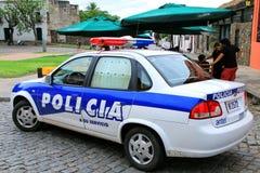 Περιπολικό της Αστυνομίας που σταθμεύουν U Plaza de Armas σε Colonia del Σακραμέντο, Στοκ φωτογραφία με δικαίωμα ελεύθερης χρήσης