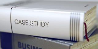 Περιπτωσιολογική μελέτη - τίτλος βιβλίων τρισδιάστατος στοκ εικόνες