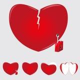 Περιπτώσεις της καρδιάς Στοκ εικόνα με δικαίωμα ελεύθερης χρήσης