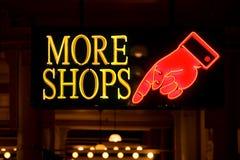περισσότερα καταστήματα στοκ εικόνα