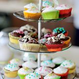 Περισσότερο cupcake στοκ φωτογραφίες