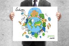 περιστέρια ειρήνης eco έννοιας Στοκ Φωτογραφίες