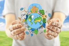 περιστέρια ειρήνης eco έννοιας Στοκ εικόνες με δικαίωμα ελεύθερης χρήσης