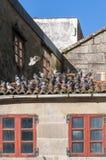 Περιστέρια στην κεραμωμένη στέγη Στοκ φωτογραφία με δικαίωμα ελεύθερης χρήσης