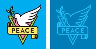 Περιστέρι του λογότυπου ειρήνης Στοκ Εικόνες