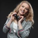 Περιστασιακό κορίτσι μουσικής Στοκ Εικόνες