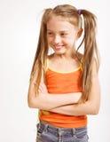 περιστασιακό κορίτσι φορεμάτων λίγα Στοκ Εικόνες