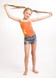 περιστασιακό κορίτσι φο&rh Στοκ εικόνα με δικαίωμα ελεύθερης χρήσης