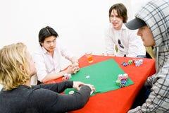 περιστασιακό πόκερ στοκ εικόνες