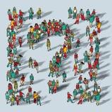Περιστασιακό σύμβολο ερώτησης ομάδας ανθρώπων μεγάλο ελεύθερη απεικόνιση δικαιώματος