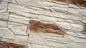 Περιστραφείτε της διακοσμητικής πέτρας Κίνηση επάνω ο γρανίτης στο σπίτι τοίχος πετρών απόθεμα βίντεο