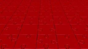 Περιστρεφόμενα κομμάτια γρίφων στο κόκκινο ελεύθερη απεικόνιση δικαιώματος