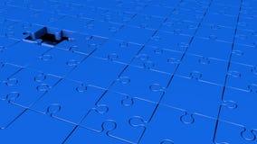 Περιστρεφόμενα κομμάτια γρίφων στο μπλε απεικόνιση αποθεμάτων