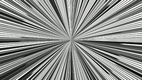 Περιστρεφόμενα υπνωτικά λωρίδες έκρηξης - άνευ ραφής γραφική παράσταση κινήσεων βρόχων φιλμ μικρού μήκους