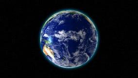 Περιστρεφόμενη γη Loopable διανυσματική απεικόνιση