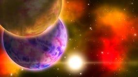 Περιστρεφόμενοι πλανήτες βρόχος απεικόνιση αποθεμάτων