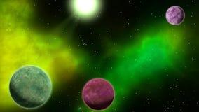 περιστρεφόμενοι πλανήτες στο διάστημα βρόχος απεικόνιση αποθεμάτων