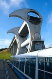 Περιστρεφόμενος ανελκυστήρας βαρκών ροδών Falkirk στη Σκωτία στοκ φωτογραφίες με δικαίωμα ελεύθερης χρήσης