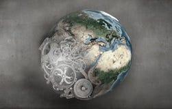 Περιστρεφόμενος γήινος πλανήτης Στοκ φωτογραφία με δικαίωμα ελεύθερης χρήσης