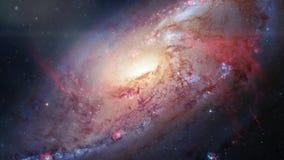 Περιστρεφόμενος σπειροειδής γαλαξίας Βαθιά εξερεύνηση του διαστήματος τομείς και nebulas αστεριών στο διάστημα απόθεμα βίντεο