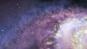 Περιστρεφόμενος σπειροειδής γαλαξίας - βαθιά εξερεύνηση του διαστήματος απόθεμα βίντεο