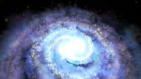 Περιστρεφόμενος σπειροειδής γαλαξίας - βαθιά εξερεύνηση του διαστήματος απεικόνιση αποθεμάτων