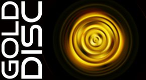 Περιστρεφόμενος χρυσός δίσκος που απομονώνεται στο Μαύρο Διανυσματικό γραφικό σχέδιο απεικόνιση αποθεμάτων