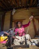 Περιστρεφόμενο μαλλί Νεπάλ Στοκ φωτογραφία με δικαίωμα ελεύθερης χρήσης