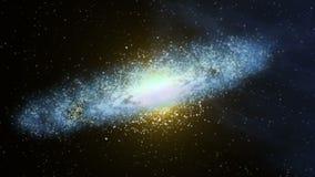 Περιστρεφόμενο σύννεφο γαλαξιών και αστεριών απεικόνιση αποθεμάτων