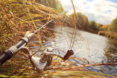 Περιστροφή αλιείας φθινοπώρου στοκ φωτογραφία με δικαίωμα ελεύθερης χρήσης