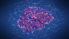 Περιστροφή δικτύων εγκεφάλου διανυσματική απεικόνιση