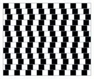 Περιστροφή, κίνηση και οπτική παραίσθηση Διανυσματική απεικόνιση των αδύνατων μορφών ελεύθερη απεικόνιση δικαιώματος