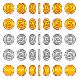 Περιστροφή νομισμάτων δολαρίων Στοκ φωτογραφία με δικαίωμα ελεύθερης χρήσης