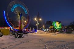 περιστροφή νύχτας ιπποδρομίων θαμπάδων Στοκ Εικόνες