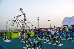 Περιστροφή της Πορτογαλίας, πρωτοβουλία που παρεμβάλλεται στο γύρο Λισσαβώνα 2018 παγκόσμιων ποδηλάτων προγράμματος στοκ φωτογραφία
