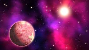 Περιστροφή sci-Fi exoplanet βρόχος ελεύθερη απεικόνιση δικαιώματος