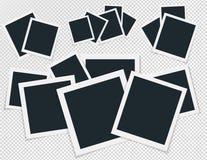 Περιστροφική έννοια του αναδρομικού πλαισίου φωτογραφιών, απομονωμένο διπλάσιο αντικείμενο συλλογής στο διαφανές υπόβαθρο με τη σ Στοκ φωτογραφίες με δικαίωμα ελεύθερης χρήσης