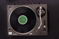 περιστροφική πλάκα του DJ s Στοκ Εικόνα
