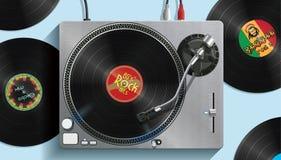 Περιστροφική πλάκα του DJ - απεικόνιση Στοκ Φωτογραφία