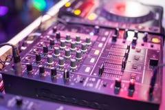 Περιστροφική πλάκα του DJ Στοκ φωτογραφία με δικαίωμα ελεύθερης χρήσης