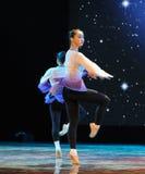 Περιστροφικός-βασικό εκπαιδευτικό μάθημα χορού Στοκ Φωτογραφία