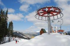 περιστροφικό να κάνει σκι Στοκ Εικόνες