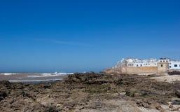 Περιτοιχισμένη πόλη κοντά στον Ατλαντικό Ωκεανό στοκ εικόνες με δικαίωμα ελεύθερης χρήσης