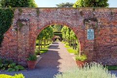 Περιτοιχισμένος κήπος, Hampton Court Castle, Herefordshire, Αγγλία Στοκ Φωτογραφίες